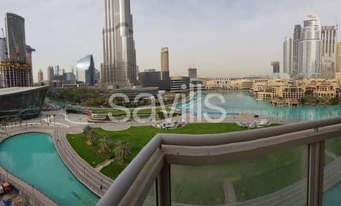 شقة 3 غرفة نوم للايجار في وسط مدينة دبي، دبي - Unobstructed Burj Khalifa and Fountain View