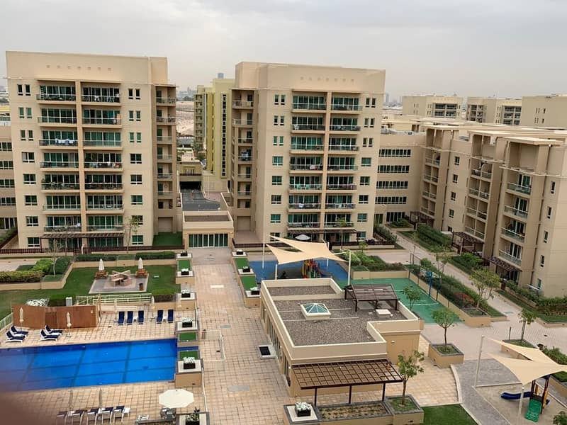 The Geerns  Al Ghozlan 2BR For Rent  Full Pool View Rent: 85000/2 Chqs