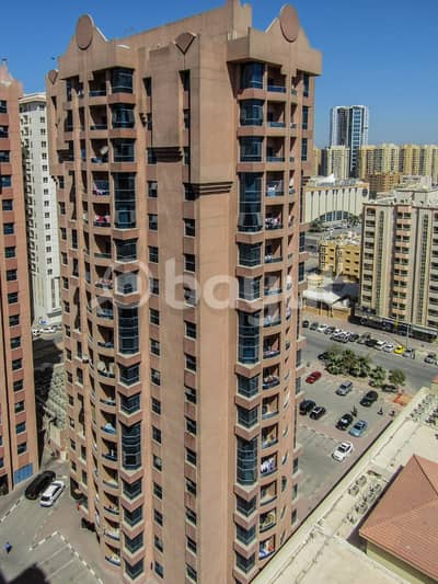 22000 ONLY SPACIOUS 1 BED HALL WITH KITCHEN 2 WASHROOMS WITH BALCONY FOR REN IN NAUIMIA TOWERS