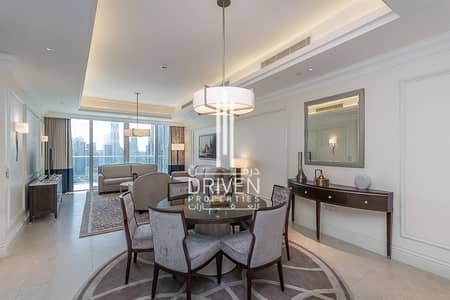 شقة فندقية 2 غرفة نوم للايجار في وسط مدينة دبي، دبي - Brand New Apartment w/ Burj Khalifa View