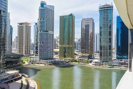 1 Bedroom Flat for Rent in Jumeirah Lake Towers (JLT), Dubai - Near Metro Station | Furnished 1 Bed | Lake View