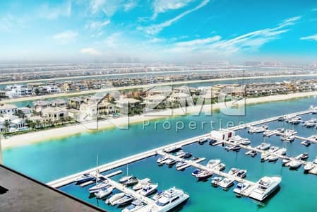 3 Bedroom Flat for Sale in Palm Jumeirah, Dubai - Full Sea Yacht View  I  Type B  I 3 Bed plus Maid
