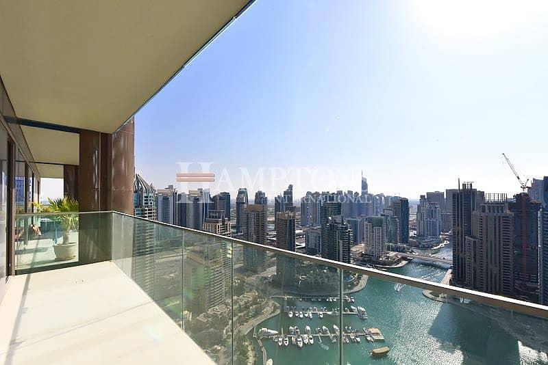 High Floor | Rare Full Marina View | Vacant