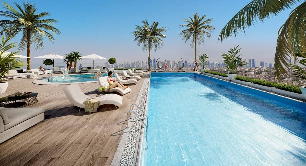 Owns in downtown  installments the view of Sheikh Zayed Road and Khalifa Tower