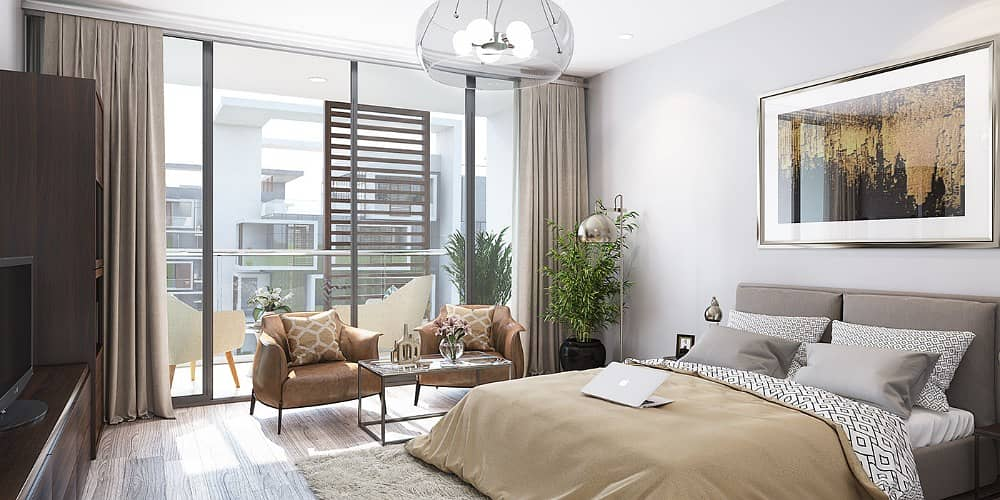 1 bed in Dubai healthcare city pay 10% and the rest by monthly installments 650K total