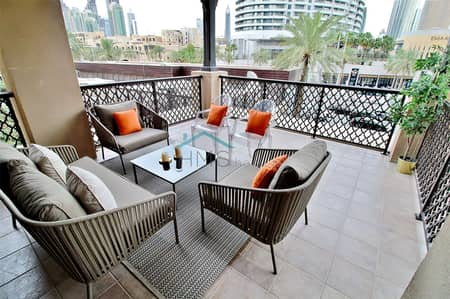 2 Bedroom Apartment for Sale in Old Town, Dubai - Huge Terrace | Yansoon 3| Boulevard View