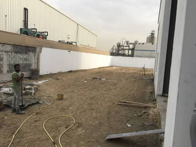 Warehouse for Rent in Jebel Ali, Dubai - Jabel ali industrial area 12500Square feet plot built in 4500SqFt warehouses with toilet