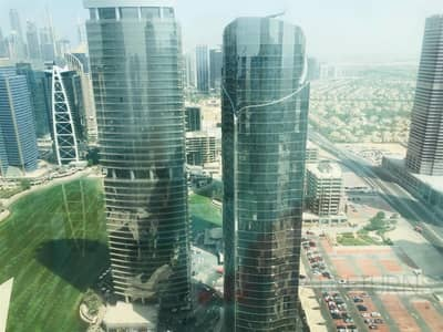 1 Bedroom Apartment for Rent in Jumeirah Lake Towers (JLT), Dubai - Full Lake View 1bed Furnished in JLT [DE]