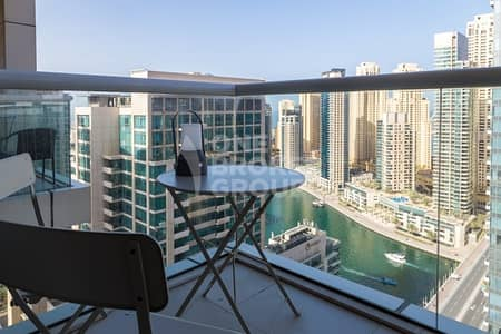 2 Bedroom Apartment for Rent in Dubai Marina, Dubai - 2 Bedroom Apt with Balcony  Marina View