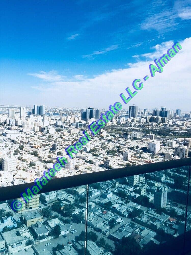 أشكان أو المشترين النقدية - عجمان ون تاور - 3BHK - عرض البحر - 550،000 الكل في