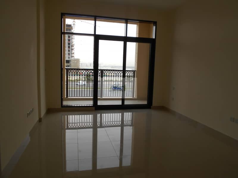 1 MONTH & CHILLER FREE STUDIO WITH BALCONY FACING AL KHAIL ROAD PARKING ALL AMENITIES IN 44K