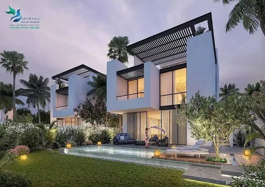 Luxury 3 bedroom villa on the sea in Sharjah