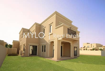 5 Bedroom Villa for Sale in Arabian Ranches 2, Dubai - Large Corner plot  | Type 4  | Dark Wood