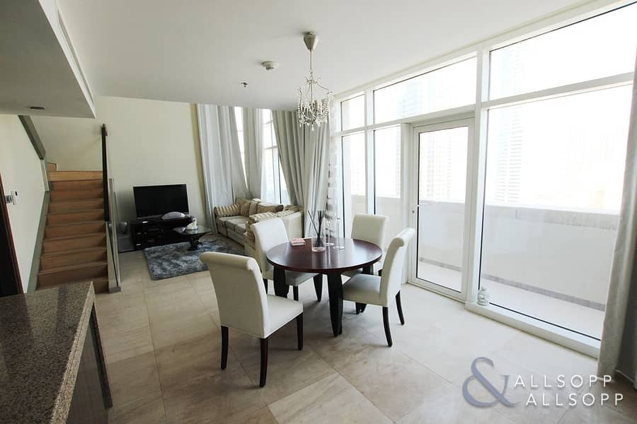 2 Furnished | 1BR Duplex | Burj Khalifa View