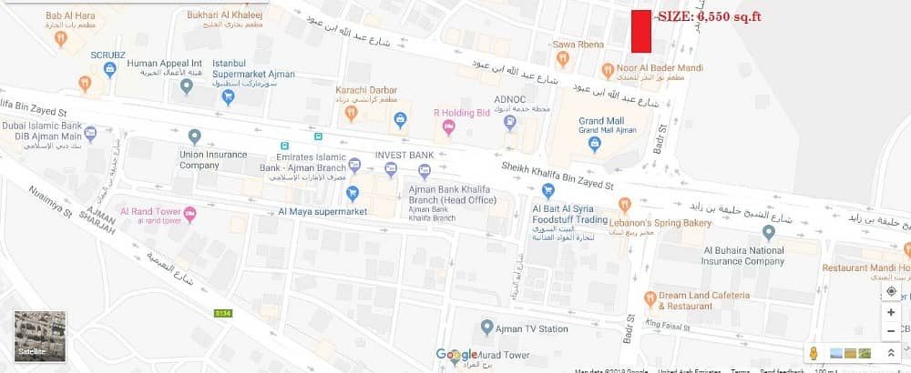 House for sale in Rashidiya 3, Ajman!!! Area : 6,550 sq  ft !!!! Back side  of Grand Mall | Bayut com