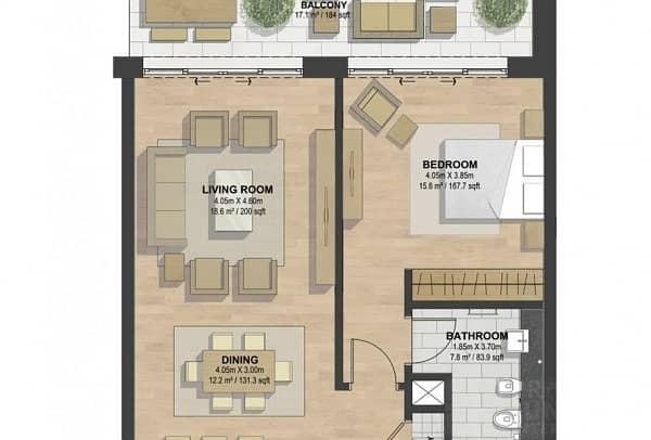 2 Off Plan : 1 Bedroom Apt in Sobha Hartland