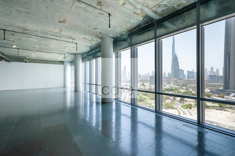 2 Semi fitted office for lease in Burj Daman