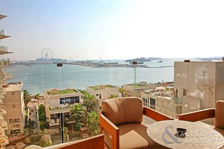 2 Bedroom Apartment for Sale in Palm Jumeirah, Dubai - Mid-Floor | Full Sea and Dubai Eye | 2 Bed