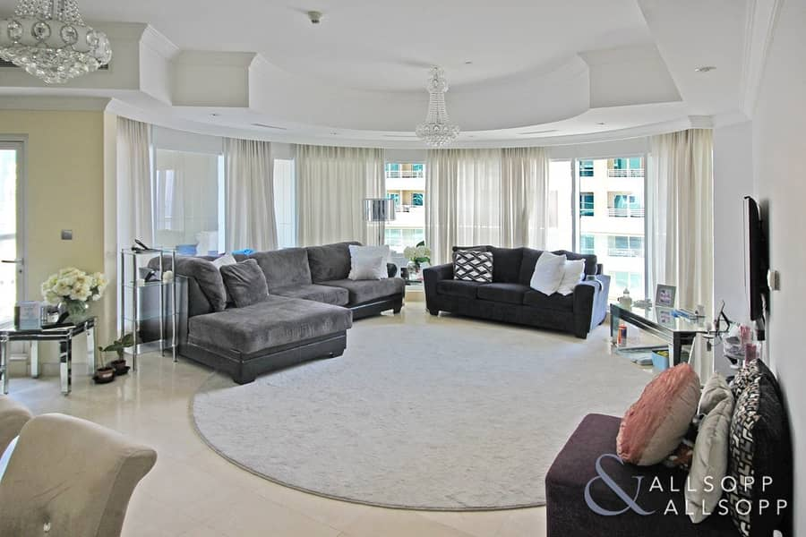 2 Marina Views | Maids Room | Large 3 Bed