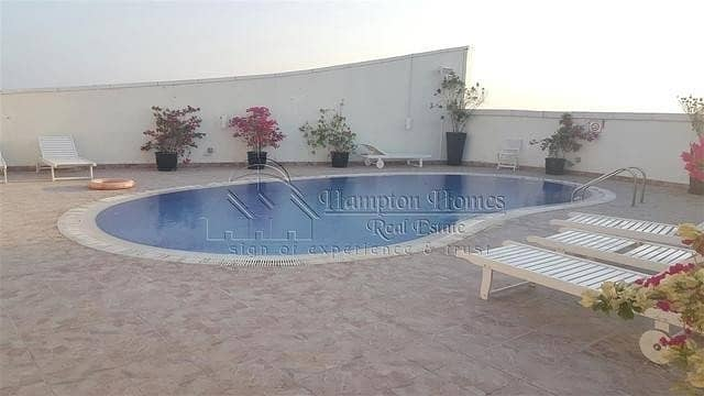 10 Chiller free fully furnished 2 bedroom apt with close kitchen balcony 75k 4 cheqs