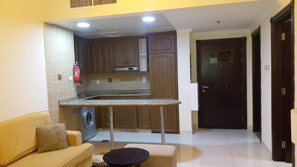 2 CHEAP PRICE 54K FURNISHED 1 BEDROOM APARTMENT IN AL-BARSHA