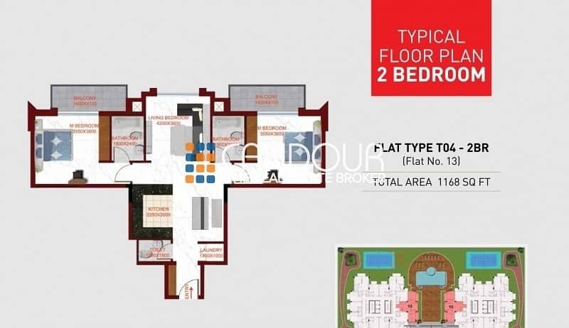 12 Fully Furnished |  Spacious 1 Bedr Apt