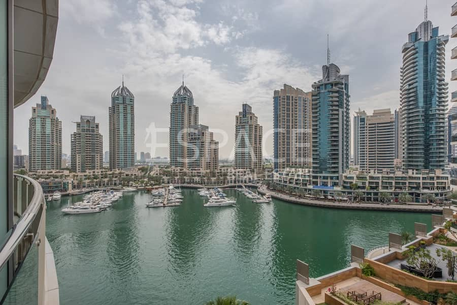 Mid Floor | 2 Bed Plus Maids | Marina View