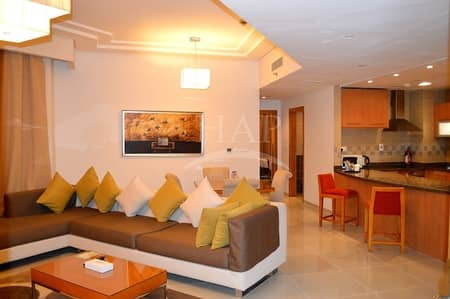 2 Bedroom Hotel Apartment for Rent in Dubai Media City, Dubai - furnished two bedrooms with free bills close to the metro