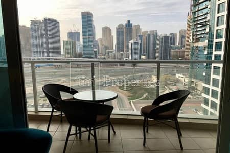 1 Bedroom Apartment for Rent in Jumeirah Lake Towers (JLT), Dubai - Fullt furnished| Corner unit| Immaculate
