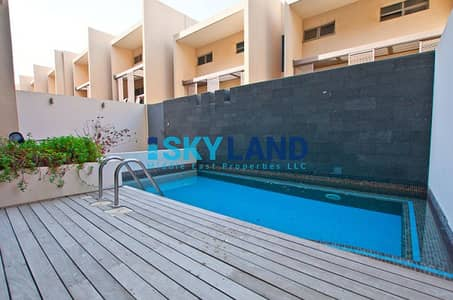 4 Bedroom Townhouse for Rent in Al Raha Beach, Abu Dhabi - Luxury 4BR + Maid room w/ Private Pool !