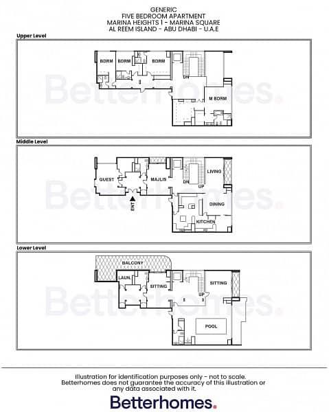 20 Superb 5BR Penthouse | Higher Floor| Pvt. Pool