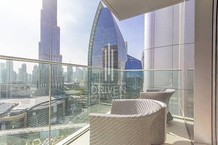 2 Bedroom Hotel Apartment for Sale in Downtown Dubai, Dubai - Spacious Unit