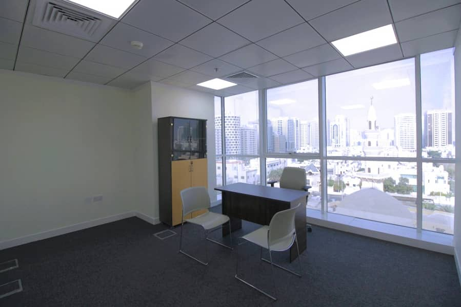 EXCLUSIVE RAMADAN OFFER! ! Affordable Office Space for Rent Fully furnished in Muroor Road