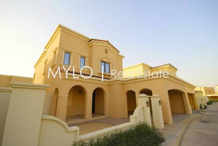 3 Bedroom Villa for Sale in Arabian Ranches 2, Dubai - 3 bed + maids | Single Row | Dark wood