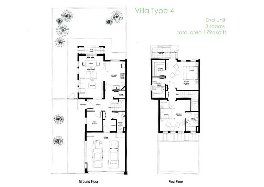 10 2 Bedroom | Upgraded Villa | Corner Plot