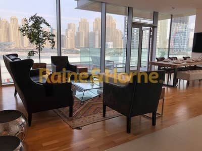 3 Bedroom Apartment for Rent in Bluewaters Island, Dubai - Fully Furnished 3 bedroom with view of Ain and Marina