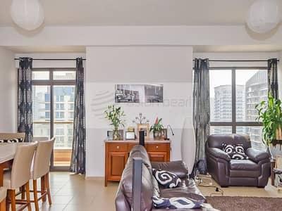 شقة 2 غرفة نوم للايجار في مساكن شاطئ جميرا (JBR)، دبي - Huge 2 Bed + Study | Stunning Full Marina View