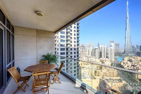 2 Bedroom Apartment for Sale in Downtown Dubai, Dubai - Burj Khalifa View | High Floor | 2 Bedroom