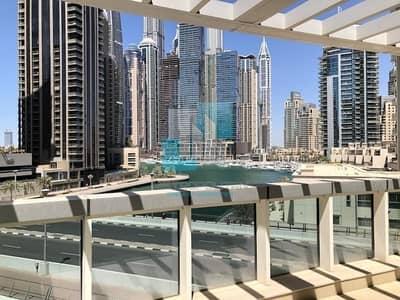 2 Bedroom Flat for Rent in Dubai Marina, Dubai - Full Marina View | Huge Balcony | 2 Bed+Study