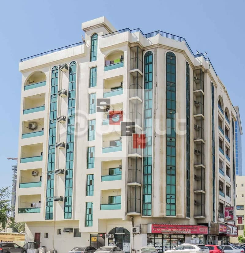 Spacious  1 Bedroom apartment available for  rent in SOBH Ajman Bldg. 3