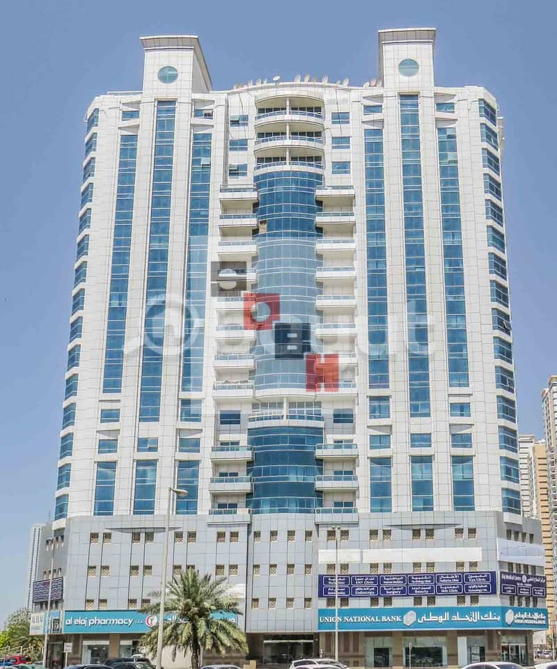 Spacious  2 Bedroom apartment available for  rent in SOBH Ajman Bldg. 4