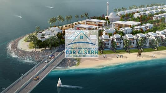 فیلا 3 غرفة نوم للبيع في المنطقة الحرة - الحمرية، الشارقة - Own your villa directly on the sea with flexible payment