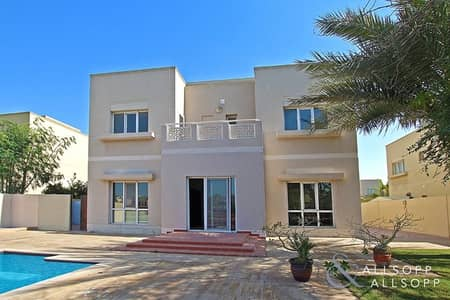 5 Bedroom Villa for Rent in The Meadows, Dubai - 5 Bed | Type 13 | Private Pool | Lake View
