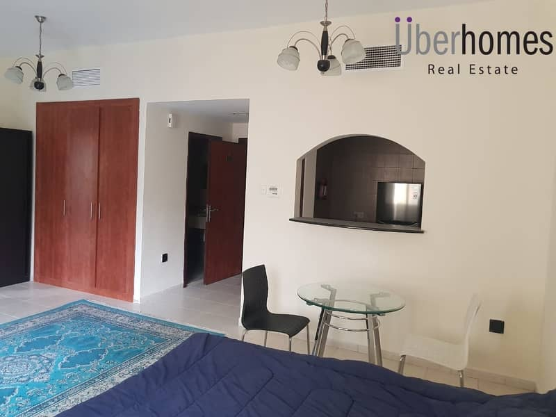 Fully furnished studio | multiple cheques