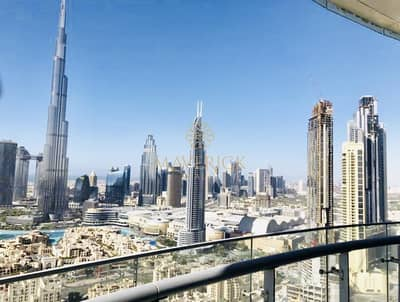 2 Bedroom Flat for Rent in Downtown Dubai, Dubai - Furnished 2BR | Maid Service + Burj View