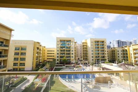 2 Bedroom Flat for Rent in The Greens, Dubai - Furnished 2 bed and study Alka pool view