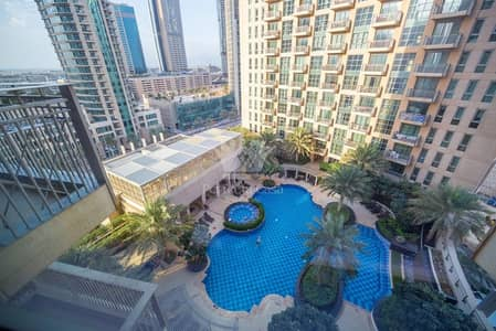 1 Bedroom Apartment for Rent in Downtown Dubai, Dubai - 1 BR | Pool View | Standpoint B | Downtown