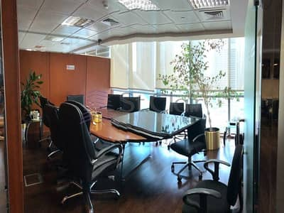 Office for Rent in Jumeirah Lake Towers (JLT), Dubai - Mid Floor   Fully Fitted and Partitioned Office