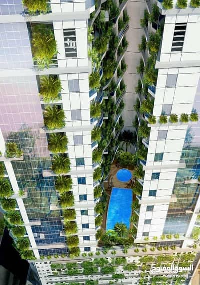 Studio for Sale in Al Amerah, Ajman - Own your dream apartment in the first environmentally friendly tower in Ajman (90) months
