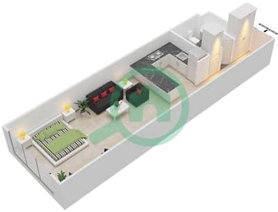 المخططات الطابقية لتصميم الوحدة B-10 شقة  - مردف توليب